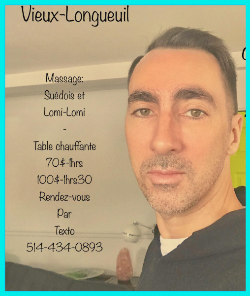 Massage pour hommes par homme ( vieux -longueuil)